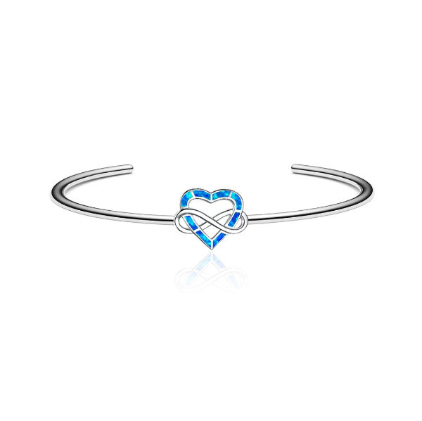 Infinite Opal Heart Bangle