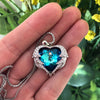 Swarovski Angel Heart Pendant - Madison Ashley