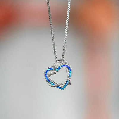 Intertwining Heart Necklace