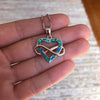 Infinite Opal Heart Pendant - Madison Ashley