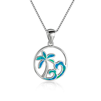Island Wave Circle Necklace