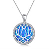 Opal Lotus Pendant - Madison Ashley