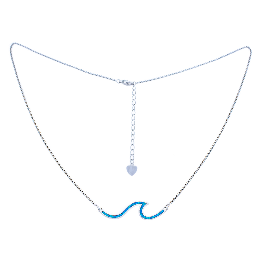 Paradise Blue Wave Necklace