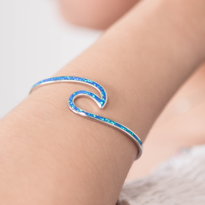 Paradise Blue Wave Bangle
