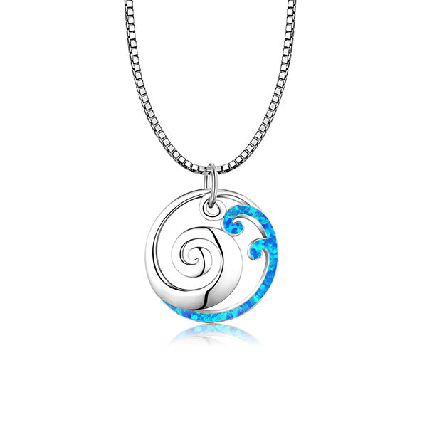 Swirling Waves Necklace