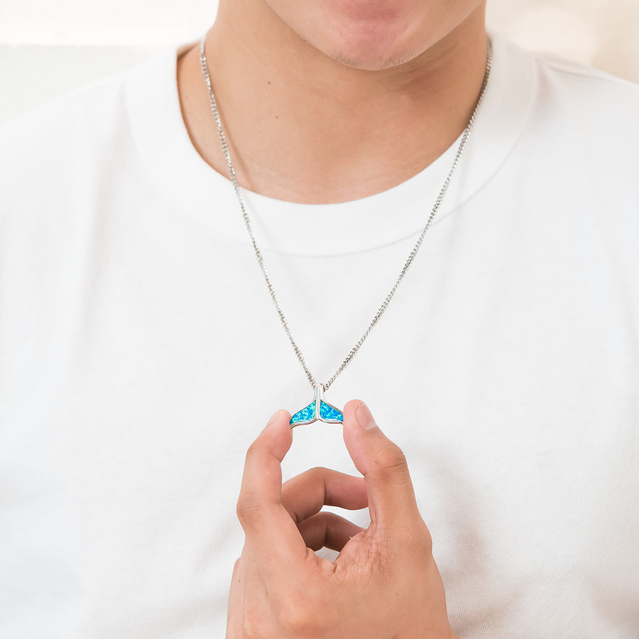 Whale Tail Necklace (His)