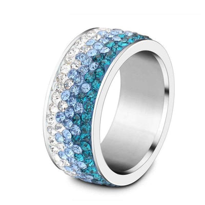 Shimmering Sea Crystal Ring - Madison Ashley
