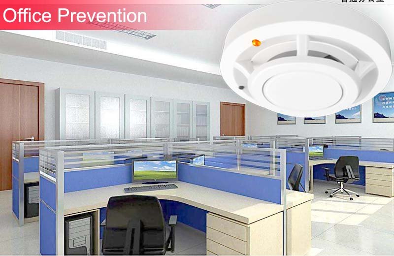 New Niwoolf Wireless Smoke detector 433MHz High sensitivity, For GSM alarm system, Security alarms, 1 battery work over 2 year