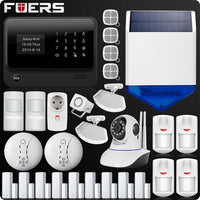 All Arround Home Security Alarm System With WiFi,GSM,GPRS,SMS , Big LCD Screen, Android App Control And Wifi IP Camera