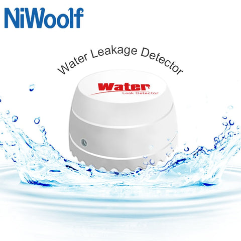 Niwoolf 433MHz Wireless Water Leakage Detector Water Leak Sensor For Our 433MHz Home Burglar Wifi / GSM Alarm System
