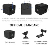 Portable SQ23 WIFI small mini Camera sport cam HD 1080P Night Vision