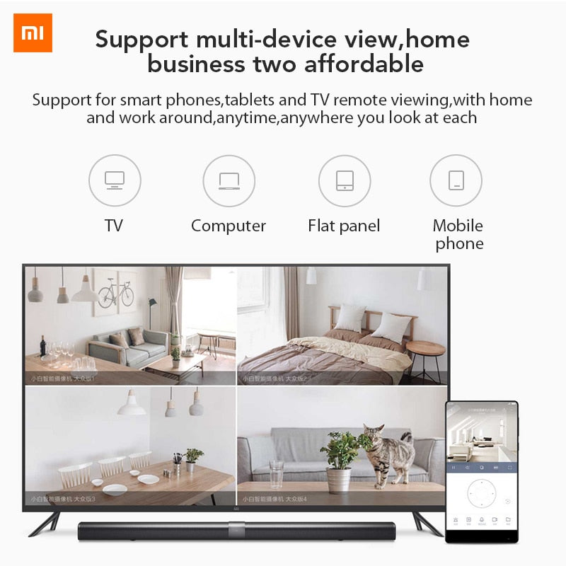 Xiaomi Mijia Xiaobai Smart Camera Popular Version 720P HD Wireless Wifi Infrared Night Vision 100.4 Degree IP Home Cam CCTV