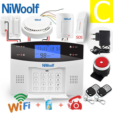 Image of Wifi PSTN GSM Alarm System 433 Wireless & Wired Detectors Alarm Smart Home