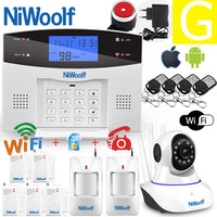 Wifi PSTN GSM Alarm System 433 Wireless & Wired Detectors Alarm Smart Home