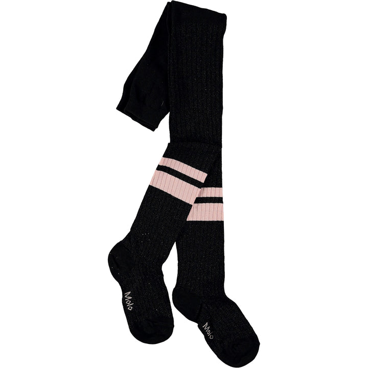 Sporty Rib Tights - Black