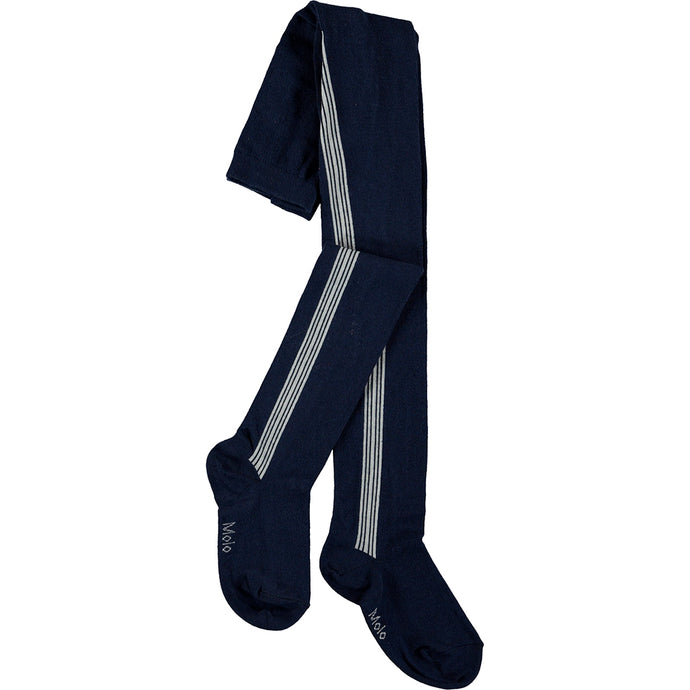 Sports Stripe Tights - Classic Navy