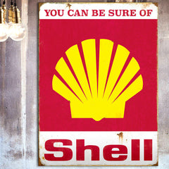 Shell Metal Signs and Tins - Officially Licensed Collection