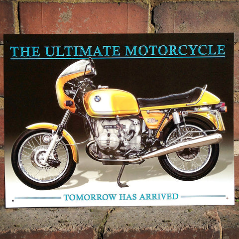 Motorbike Metal Sign - BMW R90s - The Metal Sign Store