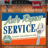 AUTO REPAIR SERVICE METAL SIGN - The Metal Sign Store
