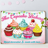 THE CUPCAKE BAKERY METAL SIGN - The Metal Sign Store