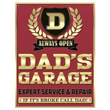 Dad's Garage, Expert Service and Repair Metal Sign - The Metal Sign Store