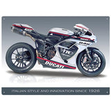 Motorbike Metal Sign - Ducati 848 Evo - The Metal Sign Store