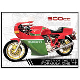 Motorbike Metal Sign - Ducati 900cc - The Metal Sign Store