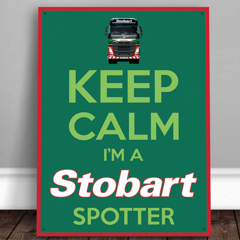 Eddie Stobart Metal Sign - Keep Calm I'm a Stobart Spotter - The Metal Sign Store
