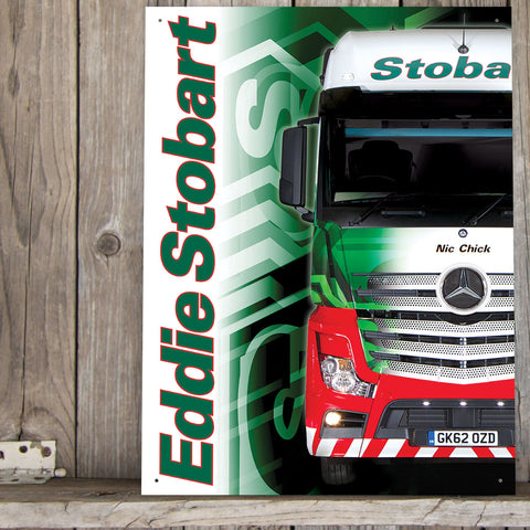 Eddie Stobart Metal Sign - Nic Chick Lorry - The Metal Sign Store