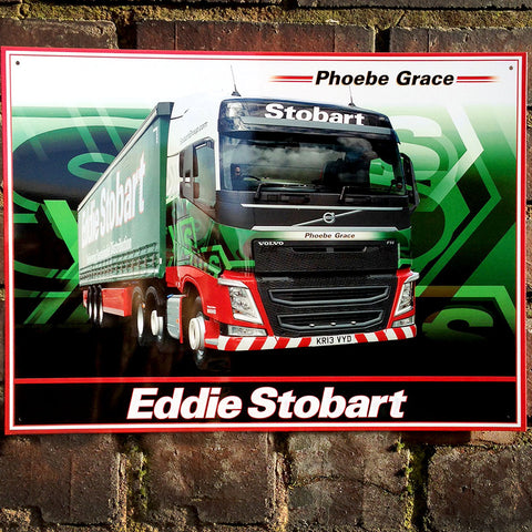 Eddie Stobart Metal Sign - The Phoebe Grace Lorry - The Metal Sign Store
