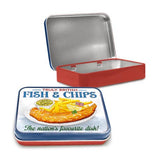 Truly British Fish & Chips Metal Tin - The Metal Sign Store