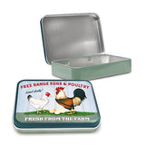 Free Range Eggs Metal Tin - The Metal Sign Store
