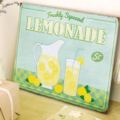 Freshly Squeezed Lemonade American Diner Style Metal Sign - The Metal Sign Store