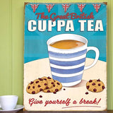 THE GREAT BRITISH CUPPA METAL SIGN - The Metal Sign Store