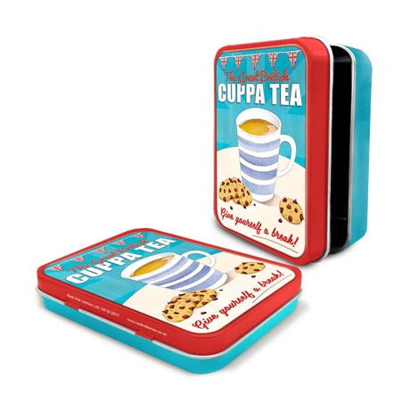 The Great British Cuppa Tea Metal Tin - The Metal Sign Store