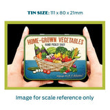 Home-Grown Vegetables Metal Tin - The Metal Sign Store