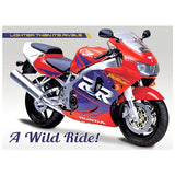 Motorbike Metal Sign - Honda CBR900RR Fireblade - The Metal Sign Store