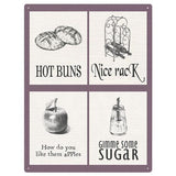 Flirty Puns Kitchen Mix Metal Sign - The Metal Sign Store