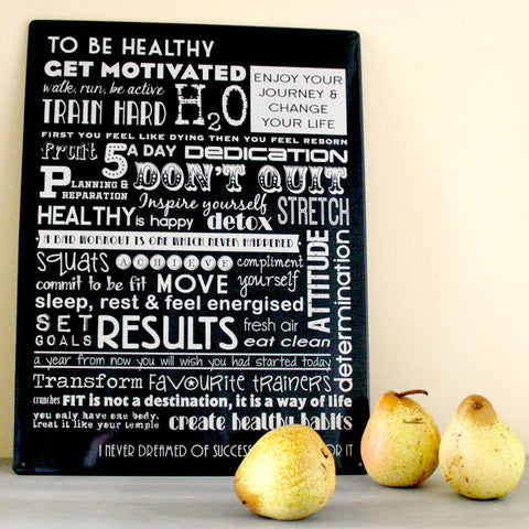 Healthy Living Motivational Metal Sign - The Metal Sign Store