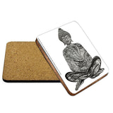 Buddha Mehndi Coaster - The Metal Sign Store