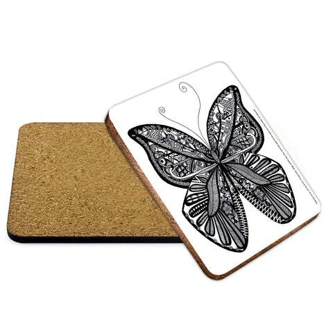 Butterfly Mehndi Coaster - The Metal Sign Store