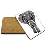 Elephant Mehndi Coaster - The Metal Sign Store