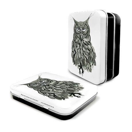 Owl Mehndi Metal Tin - The Metal Sign Store