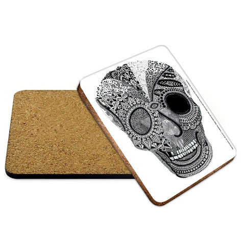 Skull Mehndi Coaster - The Metal Sign Store