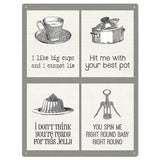 Classic Pop Music Puns 2 Kitchen Mix Metal Sign - The Metal Sign Store