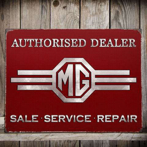 MG Metal Sign - Sales. Service. Repair. Authorised Dealer - The Metal Sign Store