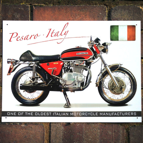 Motorbike Metal Sign - Classic Benelli Tornado 650 - The Metal Sign Store