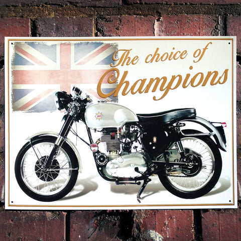 Motorbike Metal Sign - Classic BSA Goldstar - The Metal Sign Store