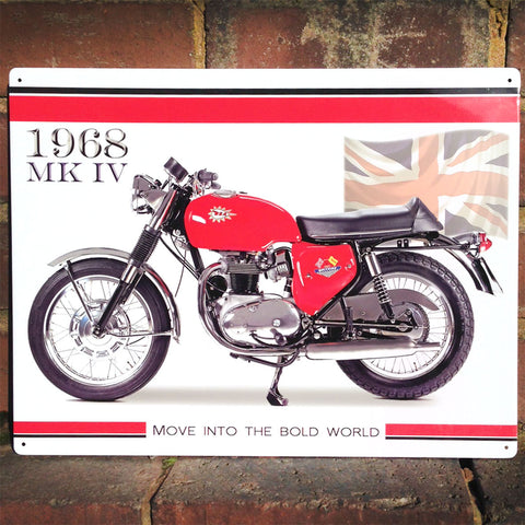 Motorbike Metal Sign - Classic BSA Spitfire 1968 MK IV - The Metal Sign Store