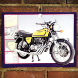 Motorbike Metal Sign - Classic Honda 400 Four - The Metal Sign Store